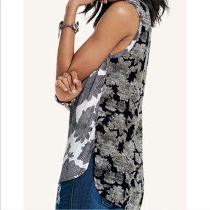 CAbi Tango Floral sleeveless blouse